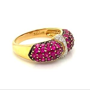 LeVian 18K Yellow Gold Ruby and Diamond Ring